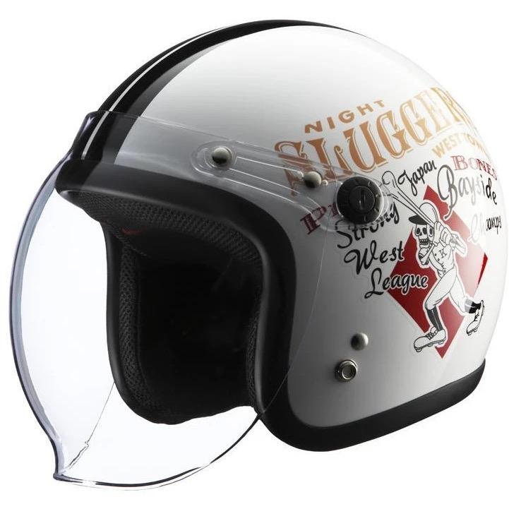KNUCKLE HEAD RJ605 PLAY BONES2 ヘルメット ホワイト/ブラック RIDEZ(ライズ)