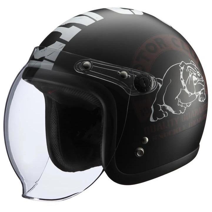 KNUCKLE HEAD BULL2 ヘルメット ブラック/ホワイト RIDEZ(ライズ)