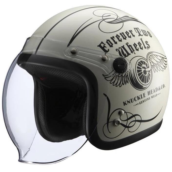 KNUCKLE HEAD FLYWHEEL2 ヘルメット アイボリー/ブラック RIDEZ(ライズ)