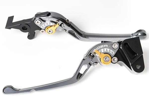GSX-R1000(09~13年) 可倒式アジャストレバー ブレーキ&クラッチセット チタン RIDEA(リデア)