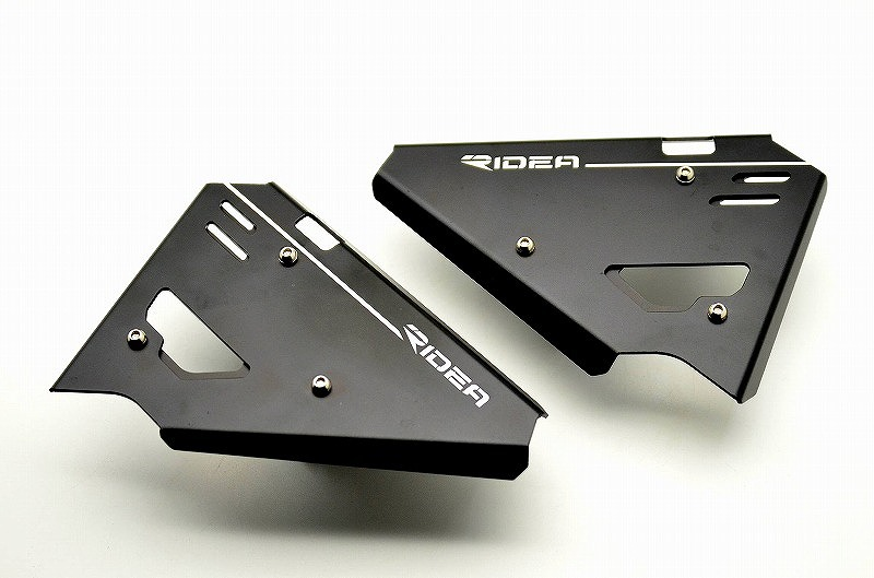DUCATI Scrambler800(スクランブラー) アルミサイドカバー 左右セット ブラック RIDEA(リデア)