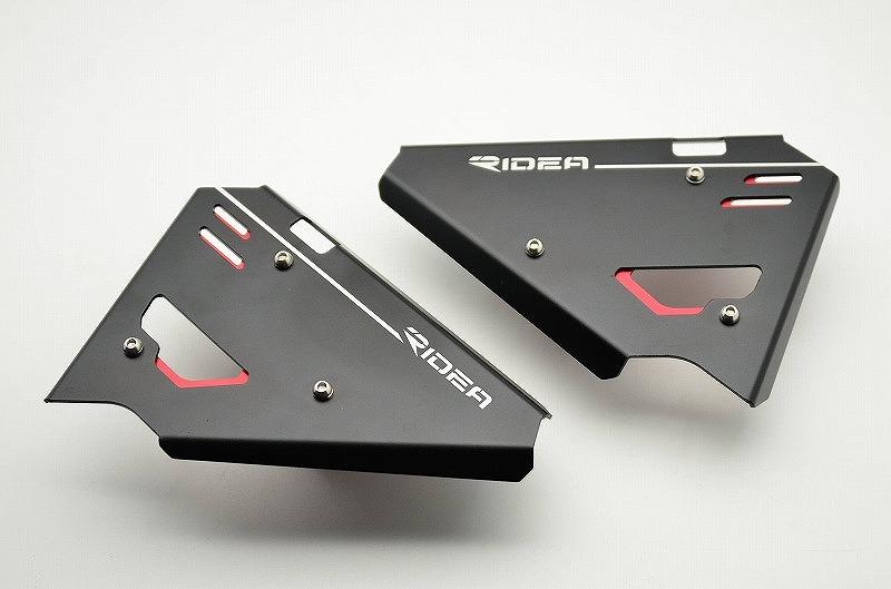 DUCATI Scrambler800(スクランブラー) アルミサイドカバー 左右セット レッド RIDEA(リデア)