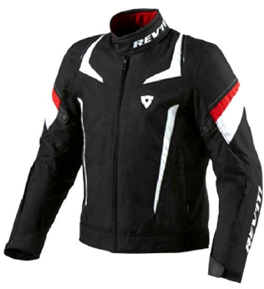 ジュピターテキスタイルジャケット ブラック/レッド Sサイズ REVIT!(レブイット)