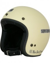 R66H-1501 ジェットヘルメット マットアイボリー S-M(Lady's対応)サイズ ROUTE66(ルート66)