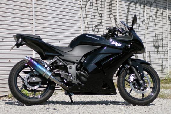 Ninja250R(ニンジャ) Aria チタンサイレンサー TypeC(カールエンド)スリップオン リアライズレーシング(RealizeRacing)