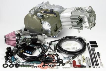 モンキー FIモデル スーパーヘッド4V+R SCUT148ccコンプリートエンジン(標準仕様) SP武川(TAKEGAWA)