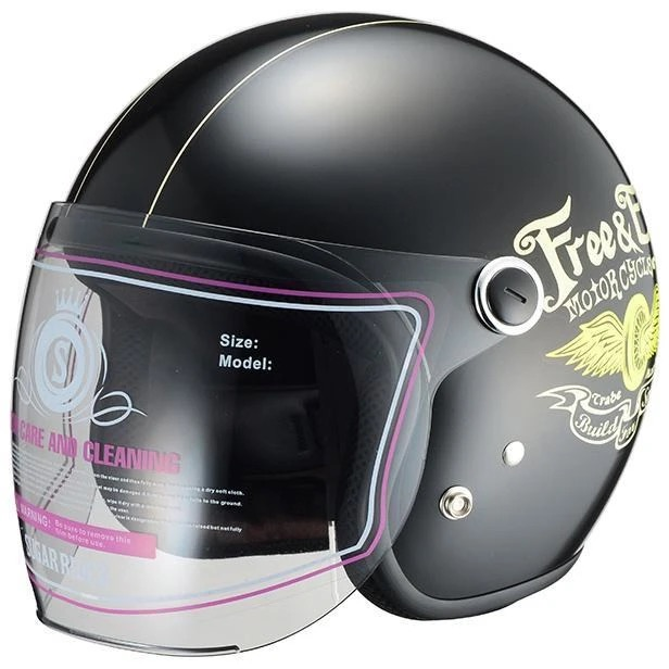 Vivian Free&Easy ジェットヘルメット ブラック(女性用/レディース用) SUGAR RIDEZ(シュガーライズ)