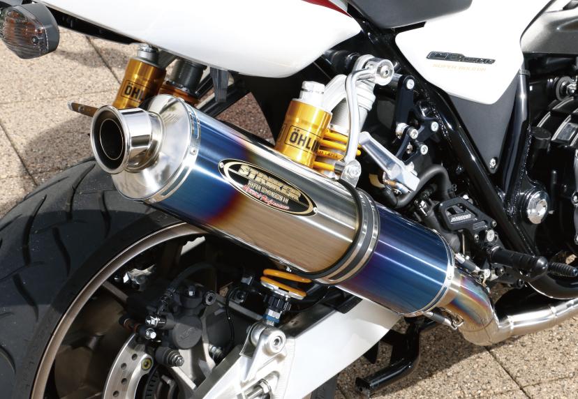 STREET CONCEPT フルエキチタン4-2-1 Type2 JMCA/H22騒音規制対応モデル UP チタンヒートカラー真円φ115-480mm STRIKER(ストライカー) CB1300SF/SB/ABS(08~16年)