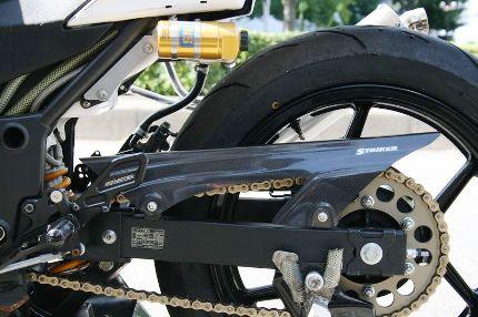 STRIKER エアロデザイン カーボンチェーンカバー STRIKER(ストライカー) Ninja250R(ニンジャ)