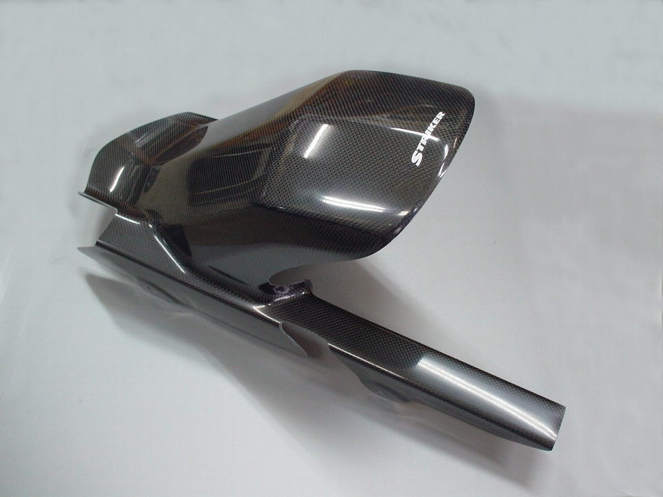 エアロデザイン(SAD)リヤフェンダー 黒ゲルコート仕上げ ノーマルスイングアーム用 STRIKER(ストライカー) ゼファー750(ZEPHYR)