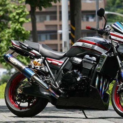 STRIKER エアロデザイン アンダーカウル 黒ゲル STRIKER(ストライカー) ZRX1200 DAEG(ダエグ)