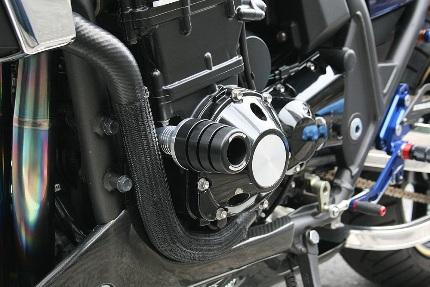 STRIKER ガードスライダー スライダー:ジュラコン スライダーベース:アルミシルバー STRIKER(ストライカー) ZRX1100・ZRX1200