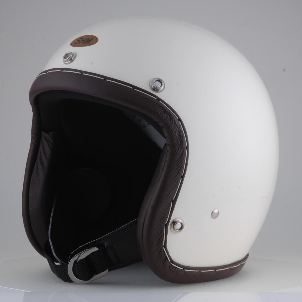 HAND STITCH Lot-101 ジェットヘルメット アイボリー S(55cm~56cm) SHM