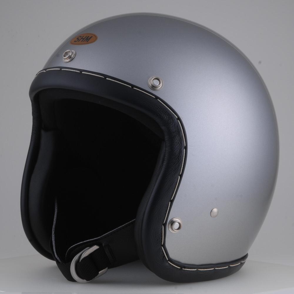 送料無料 HAND STITCH 激安卸販売新品 Lot-101 ジェットヘルメット 55cm~56cm 贈与 SHM ダークシルバー S