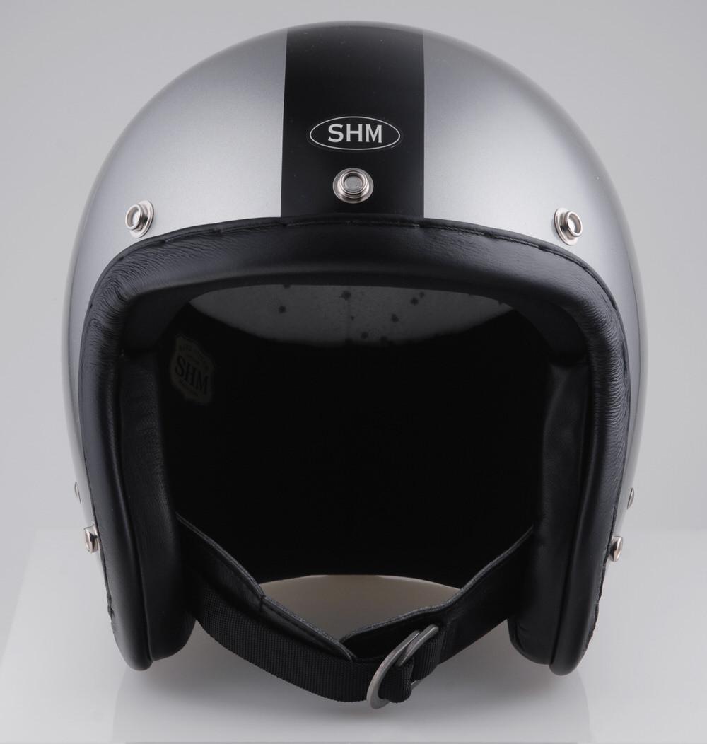 HAND STITCH Lot-102 ジェットヘルメット ダークシルバー/ブラック S(55cm~56cm) SHM