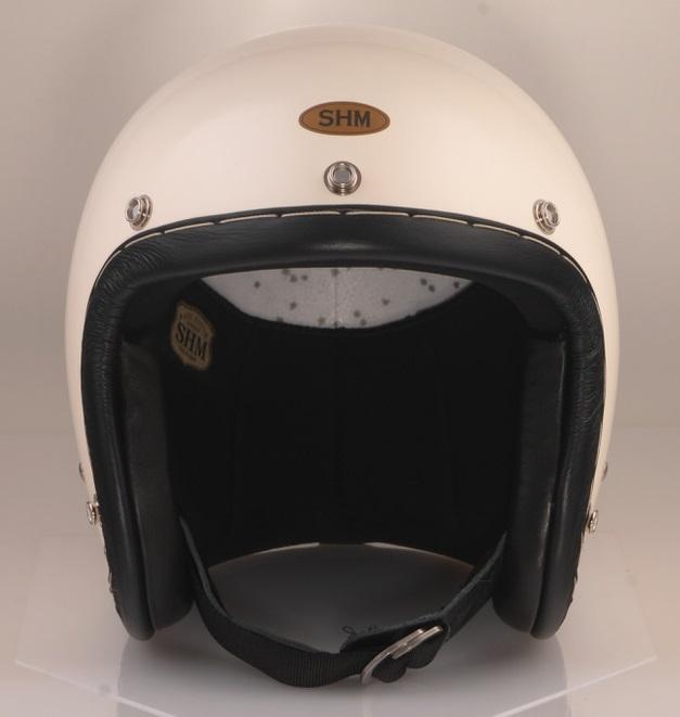 送料無料 至上 HAND STITCH チープ Lot-104 ジェットヘルメット S 55cm~56cm SHM アイボリー