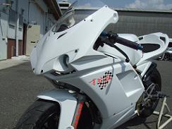 1098type ハーフカウル 耐久レース1灯 白ゲル クリアーレンズ 才谷屋(サイタニヤファクトリー) NSR50