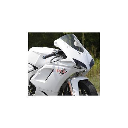1098typeハーフカウル 耐久レース2灯 白ゲル クリアーレンズ NSR50/80 SAITANIYA(才谷屋ファクトリー)