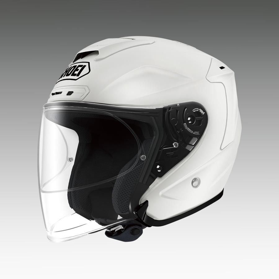 J-FORCE 4(ジェイ・フォース フォー) ルミナスホワイト Sサイズ(55cm) ジェットヘルメット SHOEI(ショウエイ)