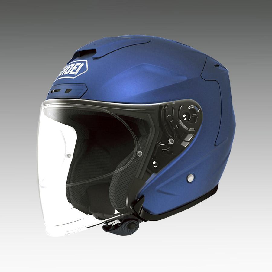 J-FORCE 4(ジェイ・フォース フォー) マットブルーメタリック XSサイズ(53cm) ジェットヘルメット SHOEI(ショウエイ)