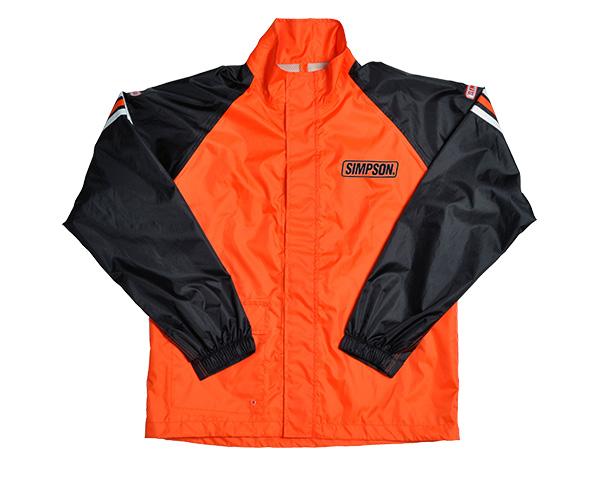 SRS-4191 レインスーツ オレンジ/ブラック 4Lサイズ SIMPSON(シンプソン)