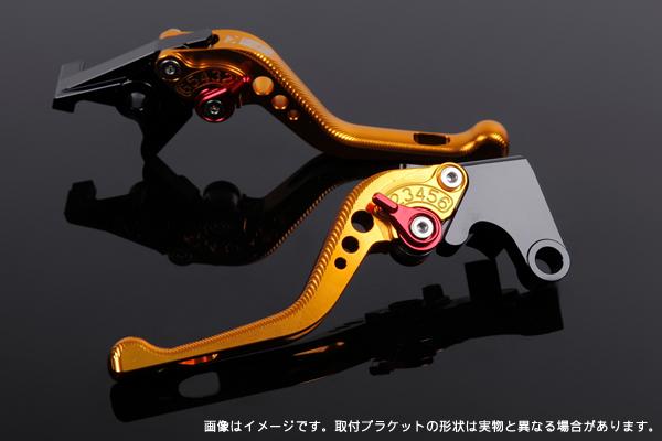 TRIUMPH SpeedTriple '11-'15/'12-'15 ショートアジャストレバーセット 3D レバー:ゴールド SSK(エスエスケー)
