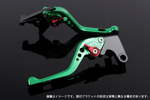 NC750X RC72 ショートアジャストレバーセット 3D レバー:グリーン SSK(エスエスケー)