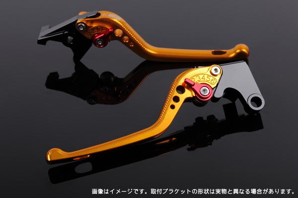 NINJA H2/H2R アジャストレバーセット 3D レバー:ゴールド SSK(エスエスケー)