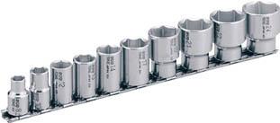 SHS310 TONE SUSソケットセット(6角・ホルダー付) 10pcS(6角タイプ・差込角9.5mm) TONE(トネ)
