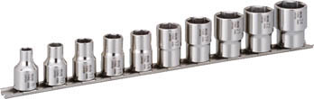 SHS410 TONE SUSソケットセット(6角・ホルダー付) 10pcS(6角タイプ・差込角12.7mm) TONE(トネ)