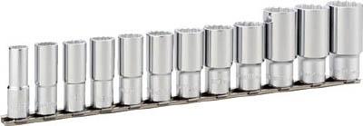 HDL312A TONE ディープソケットセット(12角・ホルダー付) 12pcS(12角タイプ・差込角9.5mm・ホルダ付) TONE(トネ)
