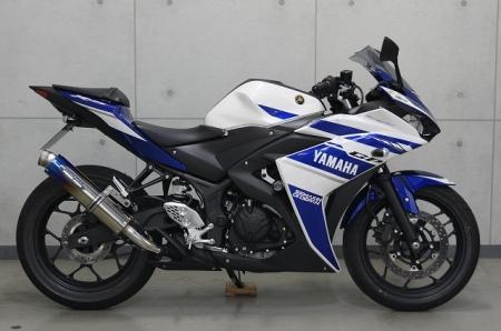 YZF-R3 レーシングスリップオンマフラー 焼きチタン仕様 TRICK STAR(トリックスター)