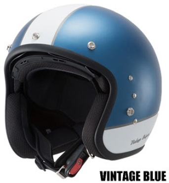 TT380ハイブリッドスモールジェットヘルメット ビンテージブルー フリーサイズ(57~59cm) OWL(アウル)