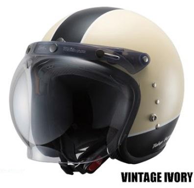 TT380ハイブリッドスモールジェットヘルメット ビンテージアイボリー フリーサイズ(57~59cm) OWL(アウル)