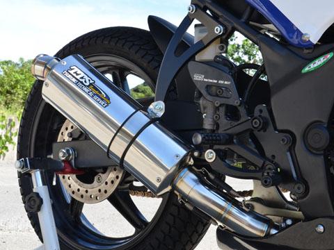 CBR250R(11~13年) レーシングスリップオンマフラー タンデム無 TTS(ツルノテクニカルサービス)