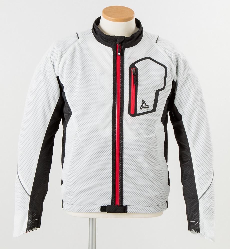 UNJ-053 サマーメッシュラインジャケット ホワイト LLサイズ urbanism(アーバニズム)