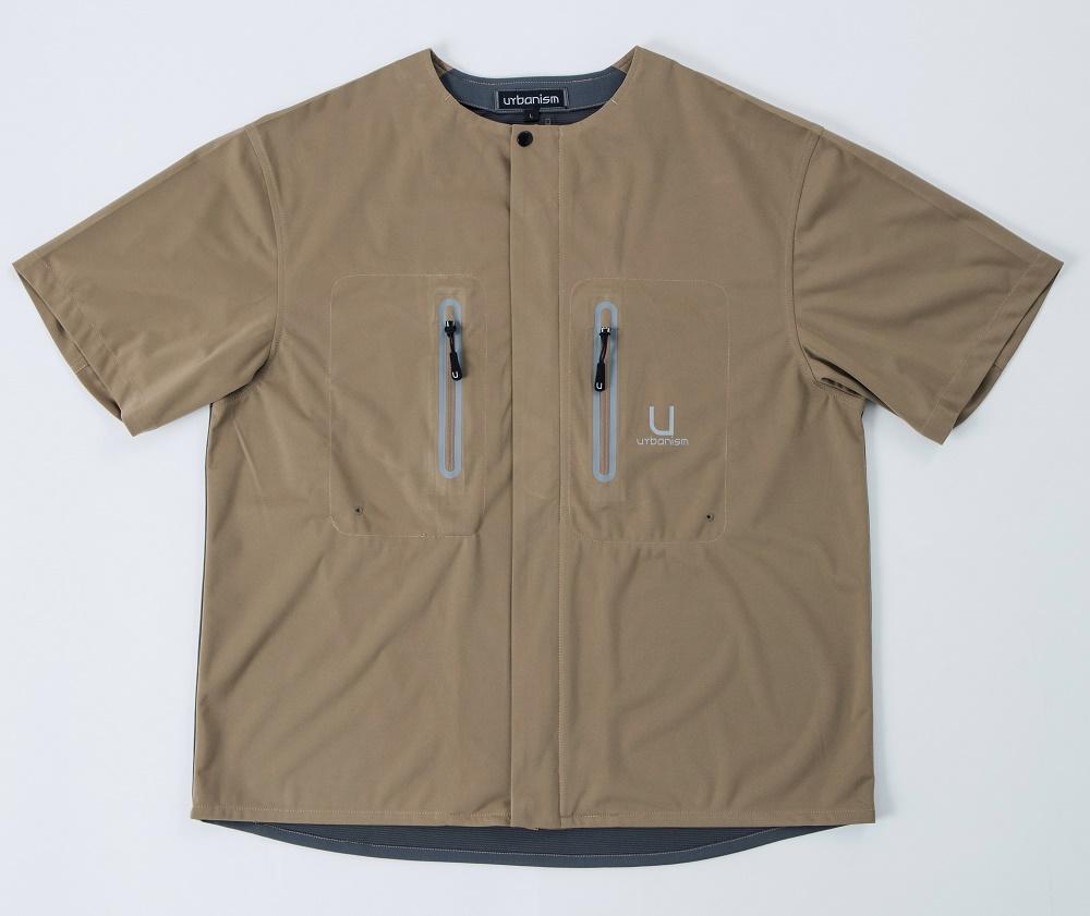 UNK-601 ライドテックシャツ ブラウン 3Lサイズ urbanism(アーバニズム)