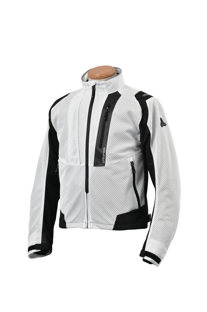 UNJ-078 ライドメッシュジャケット ホワイト Lサイズ urbanism(アーバニズム)