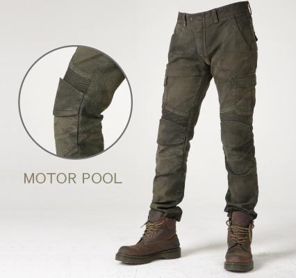 UB0004 モトパンツ MOTORPOOL メンズジーンズ カーキ 34インチ uglyBROS(アグリブロス)
