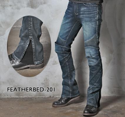 UB0011 モトパンツ フェザーベッド 201 メンズジーンズ ブルー 34インチ uglyBROS(アグリブロス)
