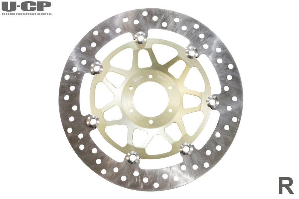 フロントブレーキディスクローター右(インナー ゴールド) U-CP(ユーシーピー) CB400SB(NC39/NC42)/CB400SF VTEC Revo(NC42)