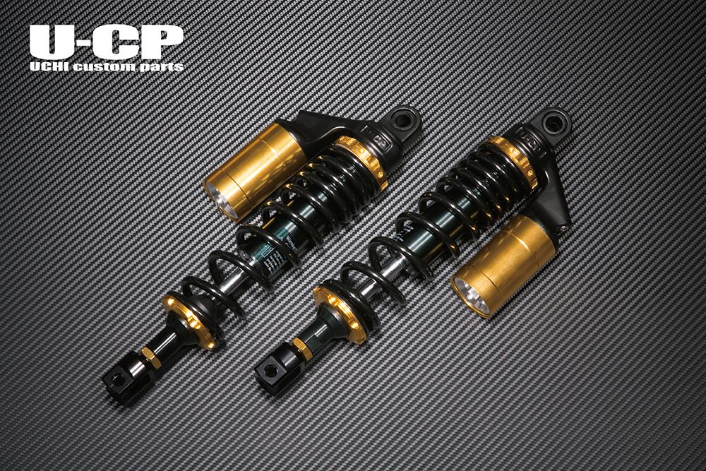 GSX1100S(KATANA) リアサスペンション(ブラック/ゴールド) U-CP(ユーシーピー)
