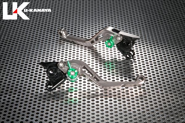 激安通販 フォルツァ FORZA 新品未使用正規品 スタンダードタイプ チタンカラー U-KANAYA ショートアルミビレットレバーセット