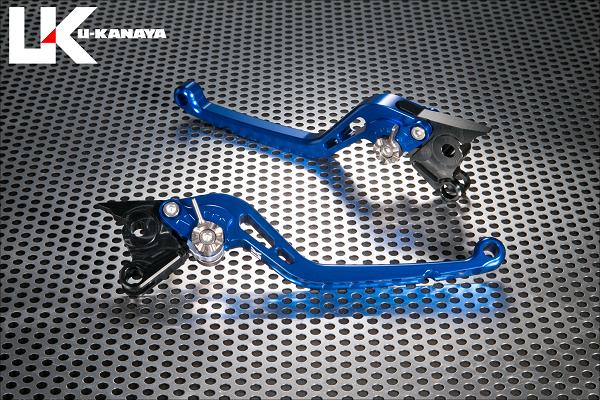 V-MAX1200 スタンダードタイプ ロングアルミビレットレバーセット(ブルー) U-KANAYA