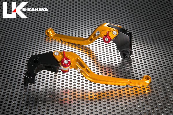 BMW S1000RR(15年~) スタンダードタイプ ロングアルミビレットレバーセット(ゴールド) U-KANAYA