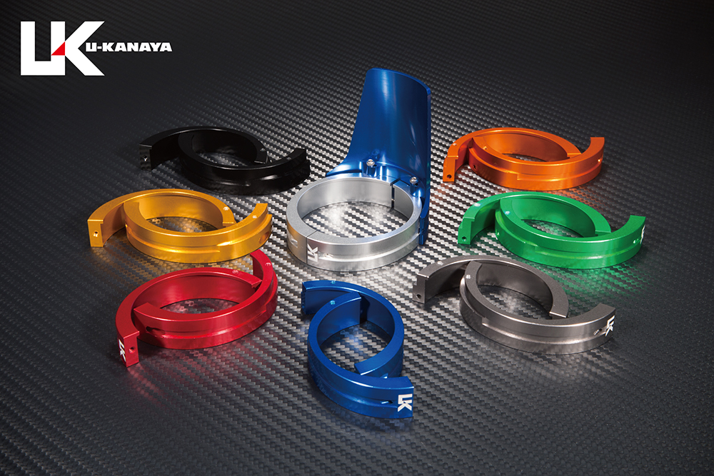 GPZ900R Ninja(ニンジャ) アルミビレットフロントフォークガード (ブルー) U-KANAYA