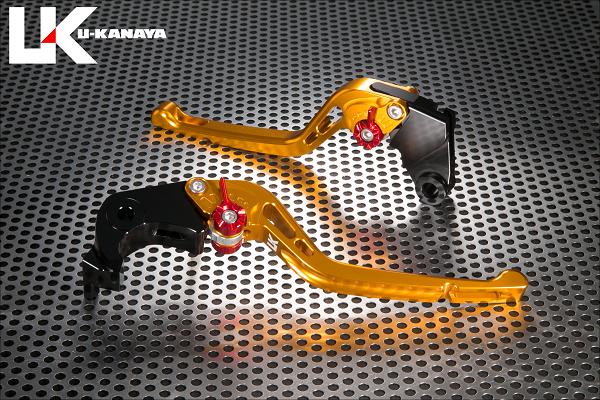GPタイプ ロングアルミビレットレバーセット ゴールド U-KANAYA CBR1000RR FIRE BLADE(2BL-SC77)