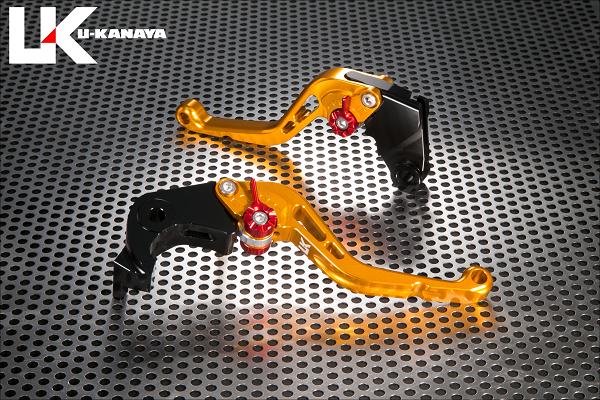 スタンダードタイプ ショートアルミビレットレバーセット ゴールド U-KANAYA Z900RS