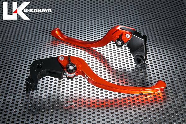 ツーリングタイプ アルミビレットレバーセット オレンジ U-KANAYA Z900RS