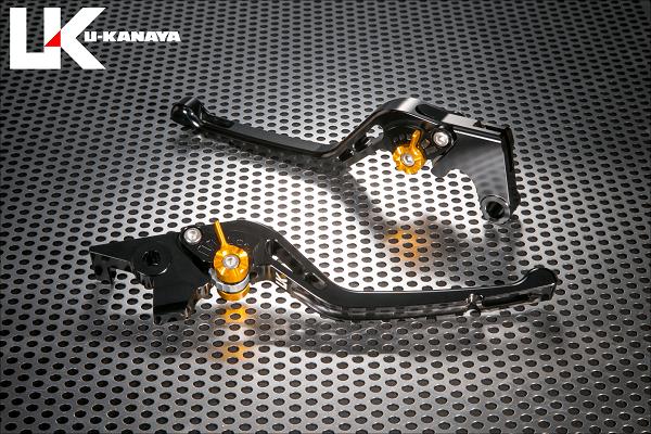 GPタイプ ロングアルミビレットレバーセット ブラック U-KANAYA Vストローム250(V-Strom250)